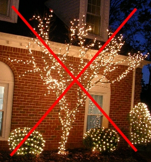 How To Put Christmas Lights Around A Tree Trunk